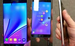 Thêm ảnh thực tế Galaxy Note 5: kim loại nguyên khối, không hỗ trợ thẻ nhớ ngoài