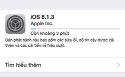 Apple tung bản cập nhật iOS 8.1.3, giảm yêu cầu dung lượng trống để nâng cấp