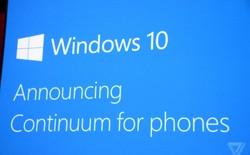 Windows 10 Continuum biến smartphone thành PC thực thụ