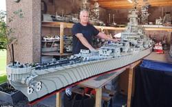 Người đánh cá nuôi mộng xây tàu USS khổng lồ bằng Lego