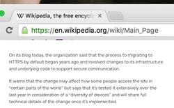 Wikipedia chính thức sử dụng giao thức mã hóa HTTPS