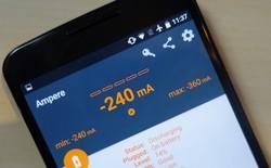[Android] Theo dõi quá trình sạc pin với ứng dụng Ampere
