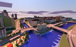 Cùng xem Thủ đô nước Áo được tái tạo hoàn toàn trong Minecraft