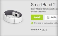 """Vòng đeo tay thông minh Sony Smartband 2 """"lộ hàng"""" trên chợ ứng dụng Play Store"""
