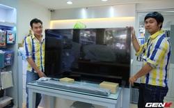 Mở hộp Mi TV 3 đầu tiên vừa có hàng tại Việt Nam: Mỏng đáng sợ, giá 27 triệu