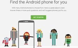 Tham gia đoán tính cách, chọn smartphone Android cùng Google