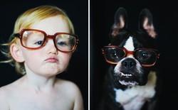 Cún con và bé gái so độ dễ thương qua bộ ảnh của nhiếp ảnh gia người Mỹ