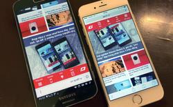 So kích thước iPhone 6 và Galaxy S6 qua ảnh
