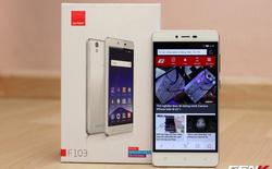 Mở hộp Gionee F103 - hai SIM giá rẻ, màn hình HD dưới 3 triệu đồng
