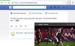 """Cốc Cốc mở tính năng """"Ghim Video"""", vừa xem Youtube vừa lướt Facebook"""