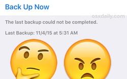 Cách khắc phục iPhone báo lỗi khi sao lưu dữ liệu lên iCloud