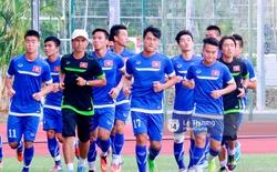 Một buổi tập của U23 Việt Nam được quay bằng GoPro