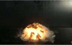 [Video] Cảnh quay chậm quả cam nổ tung như một siêu tân tinh