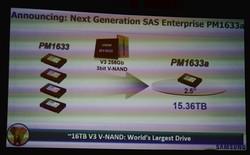 Samsung giới thiệu ổ SSD dung lượng lớn nhất thế giới: 16 TB