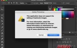 Photoshop ngăn chặn người dùng chỉnh sửa tiền giấy