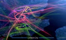 Chuyển động mê hoặc của hàng triệu lượt cất và hạ cánh máy bay tại London