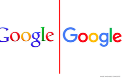 Bạn có nhận ra sự khác nhau về màu sắc logo Google và Microsoft không?