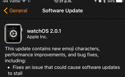 Apple cập nhật watchOS 2.0.1, khắc phục nhiều lỗi nghiêm trọng