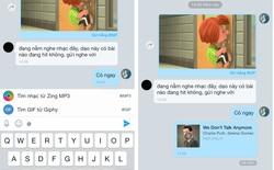 Tìm và gửi nhanh nhạc MP3, ảnh GIF đã mở cho user Zalo trên iOS
