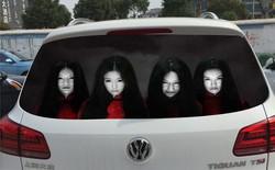 """Trung Quốc: decal """"ma quỷ"""" giải quyết tình trạng bật đèn pha vô tội vạ của các tài xế vô ý thức"""