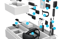 HTC Vive có tới 20 phụ kiện, lắp ráp vô cùng phức tạp