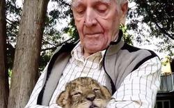 [Video] Cụ ông 92 tuổi cuối cùng đã thực hiện được ước mơ ẵm một chú sư tử