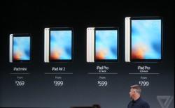 Cấu hình và giá bán chi tiết iPad Pro 9,7 inch