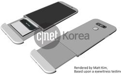 LG G5 vẫn có thể thay pin dù vỏ kim loại nguyên khối