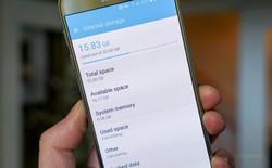 Hệ điều hành Android và TouchWiz chiếm tới 8GB bộ nhớ trong Galaxy S7