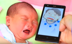 [Video] Đã có ứng dụng giải mã tiếng khóc của trẻ con