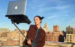 Xu hướng selfie lên ngôi, tới MacBook cũng có gậy tự sướng