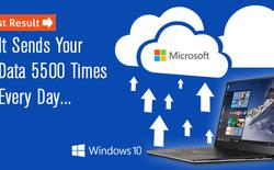 Windows 10 vẫn gửi dữ liệu của bạn lên Internet hơn 5500 lần mỗi ngày dù bạn không muốn!