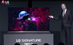 TV OLED 4K dòng Signature của LG chỉ mỏng ngang 4 chiếc thẻ ATM