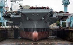 Chiêm ngưỡng siêu tàu sân bay đắt nhất lịch sử của Mỹ USS Gerald R. Ford