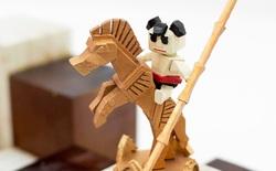 Bộ Cờ vua in 3D hình Thánh Gióng, Lạc Long Quân, Âu Cơ độc nhất Việt Nam giành giải Nhất cuộc thi sáng tạo Việt