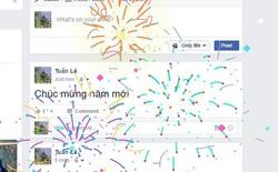"""Facebook bất ngờ bắn pháo bông khi người dùng gõ """"Chúc mừng năm mới"""""""