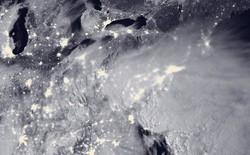 Hình chụp bão tuyết tuyệt đẹp nhìn từ ngoài không gian