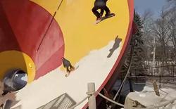 [Video] Trượt tuyết trong công viên nước - một trải nghiệm tuyệt vời
