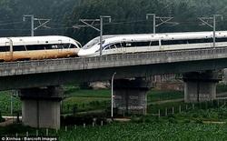 Hãy xem khoảnh khắc 2 đoàn tàu tốc độ 420km/h đi qua mặt nhau như thế nào