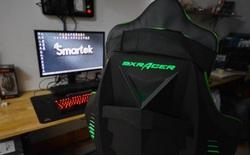 Cận cảnh ghế chơi game DXRACER đèn LED sáng rực rỡ, giá hơn 9 triệu đồng