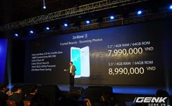 ZenFone 3 tại Việt Nam: RAM 4 GB, bộ nhớ 64 GB, giá từ 7,99 triệu