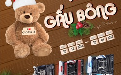 """Khuyến mại """"Mùa đông không lạnh khi có Gigabyte bên cạnh"""", tặng gấu khi mua bo mạch chủ"""