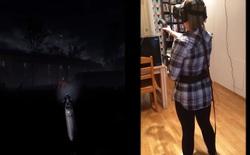 Xem clip này bạn sẽ hiểu được nỗi sợ thực sự khi đeo kính thực tế ảo chơi game kinh dị như thế nào