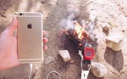 Đốt lửa để sạc iPhone, bạn nghĩ có khả năng không?