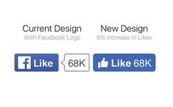 """Facebook vừa tung ra thiết kế nút """"Like"""" mới, bạn đã thấy chưa?"""