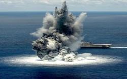 Xem video: bị 4,5 tấn thuốc nổ nổ ngay sát sườn nhưng siêu tàu chiến Mỹ không hề bị tổn hại