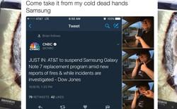 """Fan cuồng Samsung kiên quyết giữ lại Note7: """"Hãy đến lấy nó khi nào tôi đã chết"""""""
