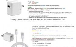 Apple tố cáo 90% cáp sạc cho iPhone trên Amazon là hàng giả