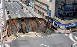 Nhật Bản sửa xong hố tử thần rộng 30 mét tại thành phố Fukuoka chỉ trong hai ngày