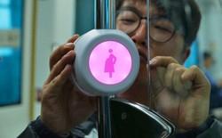 Để giúp phụ nữ mang thai có chỗ ngồi trên tàu xe, người Hàn Quốc đã sử dụng nút bấm cực thông minh